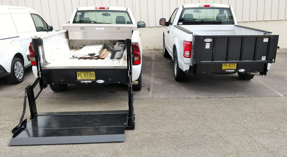 Tommy Gate Liftgates Truck Behind View Commercial Upfits